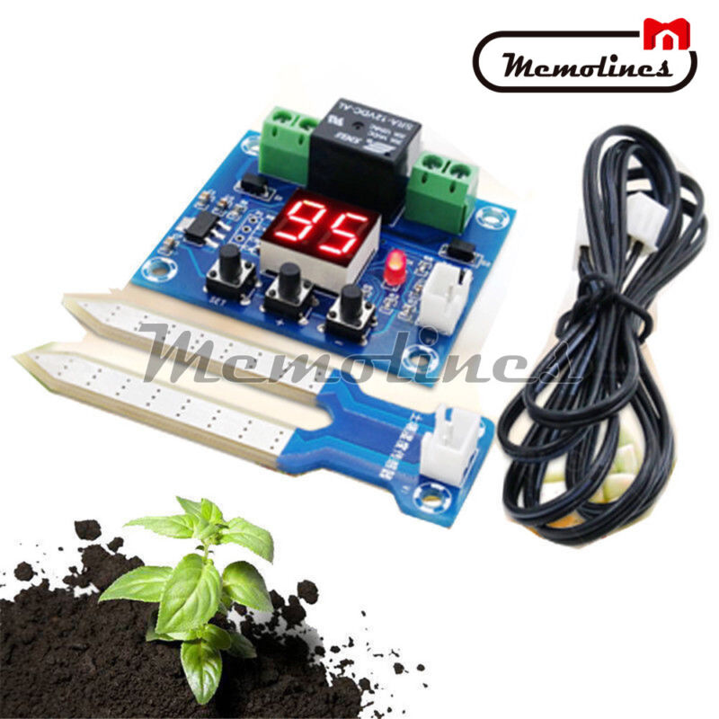 12V LED Soil Moisture Humidity Sensor Controller Automatically Watering Control