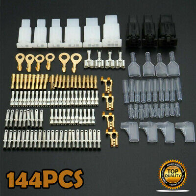 Motorcycle Wiring Harness Loom Brass Bullet Connectors Terminal Repair Kit L80