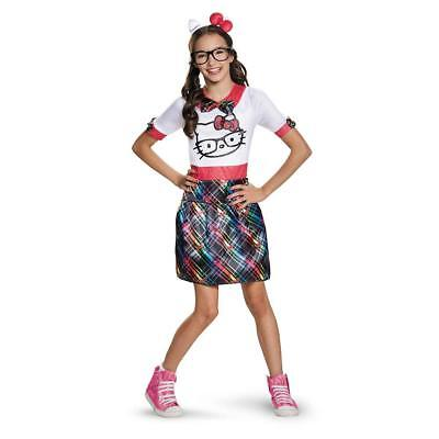 Disguise Costumes 88680T Hello Kitty Nerd Teen Child Costume,Size Junior (7-9) - Teen Girl Nerd Costume