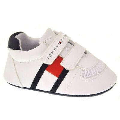 TOMMY HILFIGER Baby Krabbelschuhe T0B4-30191-0271X336 weiss Sneaker NEU