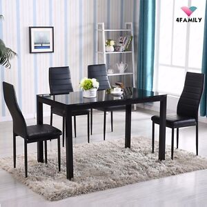 Metal Kitchen Tables Modern kitchen table ebay 5 piece dining table set 4 chairs glass metal kitchen room breakfast furniture workwithnaturefo