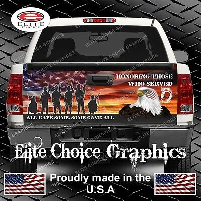 (Military Honor Our Veterans Truck Tailgate Wrap Vinyl Graphic Decal Wrap)
