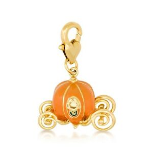 Disney Couture Cinderella Pumpkin Carriage Bracelet Charm