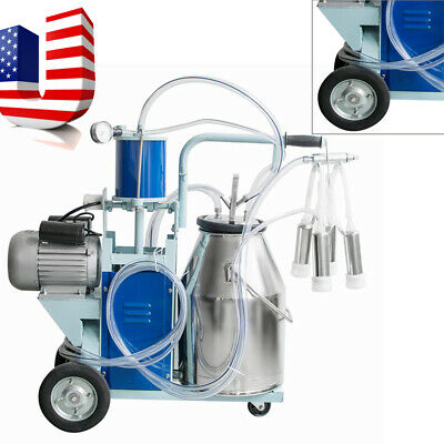 Usa Electric Milking Machine For Cattle Cows With Bucket 12cowshour Milker Ce
