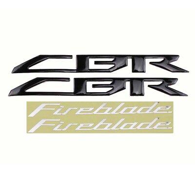 Motorcycle 3D Raise Emblem Stickers Decals Set for Honda CBR1000RR Fireblade