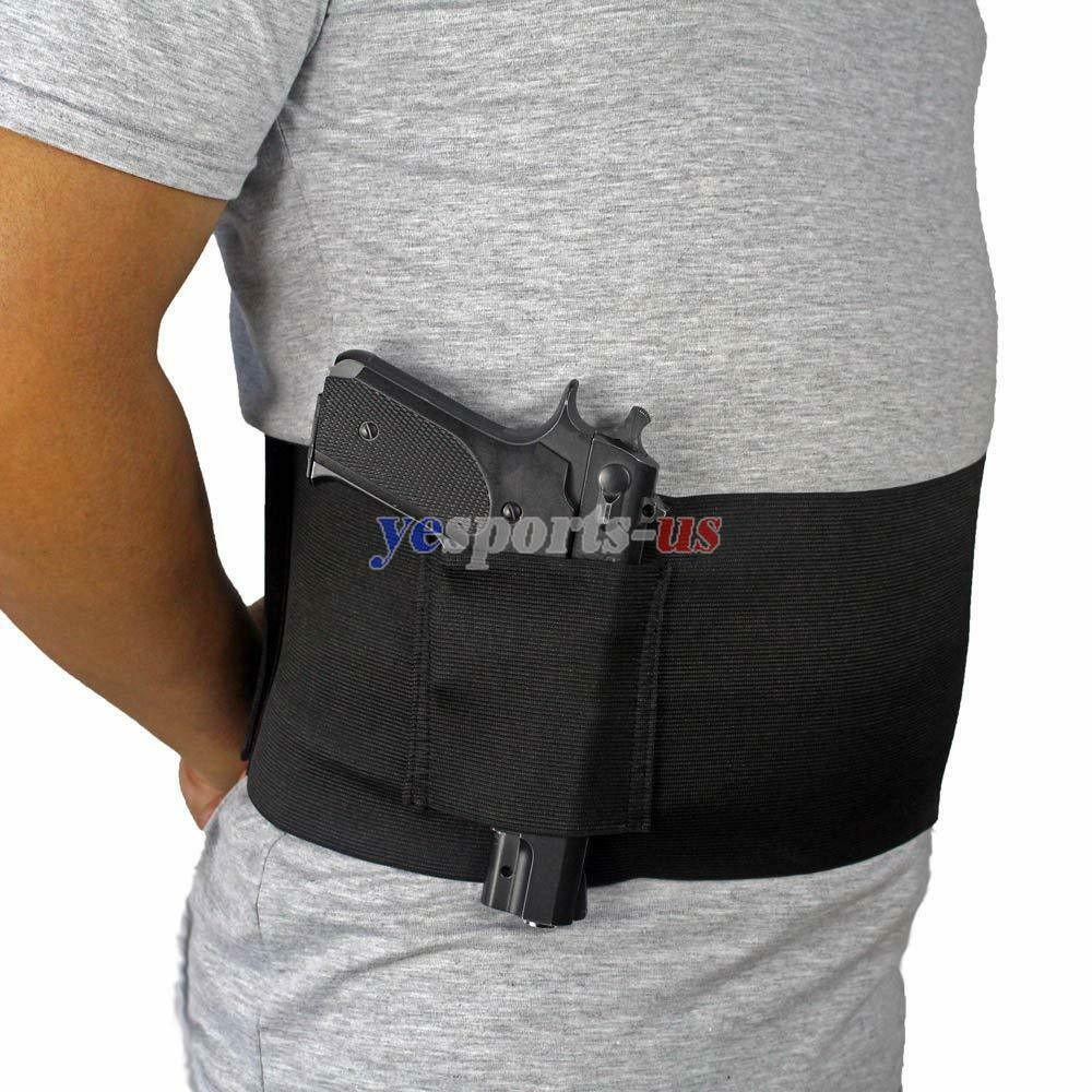Concealed Carry Belly Band Holster Slim Wrap Handgun Carrier Fits 38