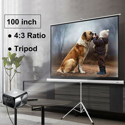 Portable 100 43 Projector Screen Home Meeting Room Tripod Stand Projection