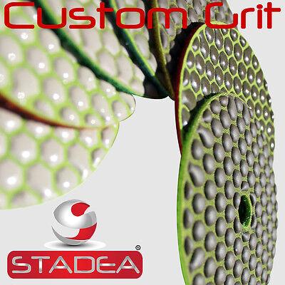 4 Stone Concrete Glass Marble Granite Dry Diamond Polishing Pads Discs - Stadea