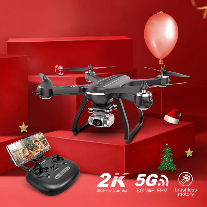 Holy Stone HS700D RC Drone with 4K 5G HD Camera GPS RC Quad Brushless 3 Battery