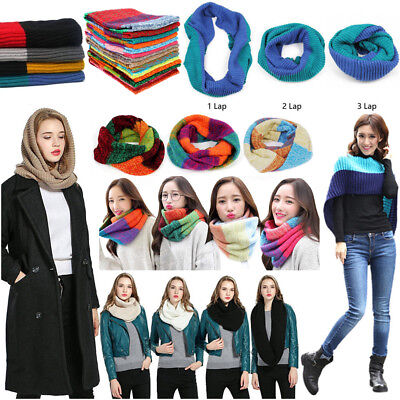 Wrap Scarf For Women Infinity Loop Circle Knit Winter Wrapables (Knitted Winter Wrap)