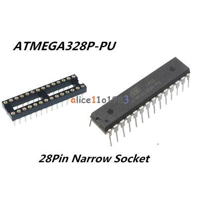 Ic Atmega328p-pu Atmega328p Dip28 Microcontroller Atmel 28pin Narrow Socket