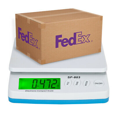 66lb X 0.1oz Digital Lcd Postal Shipping Scale Weight Postage Counting Adapter