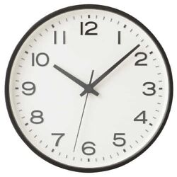 MUJI Quarts Analog Wall Clock Large Black 264 x D45mm From Japan with Tracking