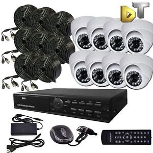 DNT-8-CH-CHANNEL-DVR-Home-Video-Surveillance-white-dome-Camera-Security-System