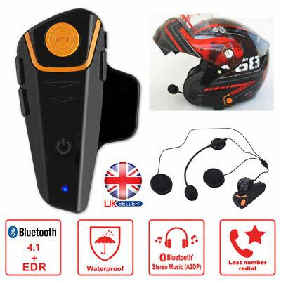 2019 Bluetooth 4.1 BT Motorcycle Helmet Headset Motorbike Headphone Handsfree UK