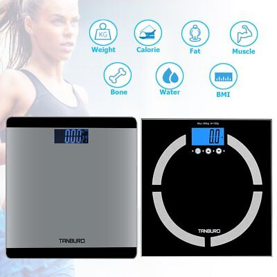 New Digital Body Weight Scale 400lb Bathroom Fat Health BMI Muscle Calorie Scale ()