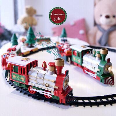 Christmas Train Set Toy with Tracks Light Music Engine Toys Christmas Xmas Gift