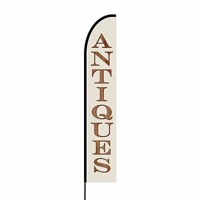 Antiques Feather Flags Swooper Advertising Sign Banner Kit 15