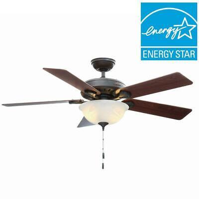 Pro's Best Five Minute 52 in. Indoor New Bronze Ceiling Fan with Light