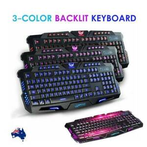 3-Color (New) LED Illuminated USB-Wired Keyboard~{$10 to Post}