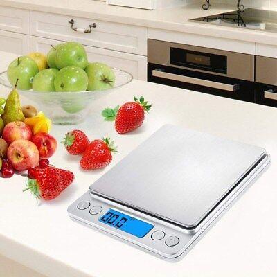 3000g/0.1g LCD Digitale Küchenwaage Schmuck Feinwaage Electronic Gramm Waage Neu