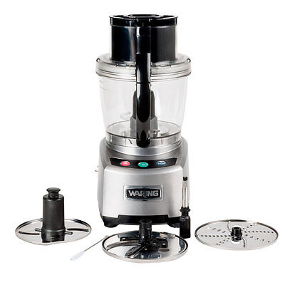 WARING 4 QUART FOOD PROCESSOR 2 HP W/ S-BLADE & DISCS 120V - WFP16S