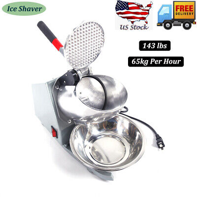 Us Electric Ice Crusher Shaver Machine Snow Cone Maker Shaved Ice 143 Lbs Summer