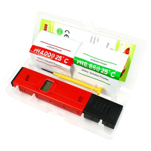 Pocket Digital pH Meter Tester Pen 0.05pH - ATC Waterproof for Pool Aquarium Lab