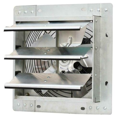 """iLiving - 10"""" Wall Mounted Exhaust Fan - Automatic Shutter - Variable Speed"""