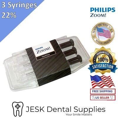 Philips ZOOM 22% Nite White Teeth Whitening Gel - 3 Syringes (Philips Zoom Nite White 22 3 Syringes)