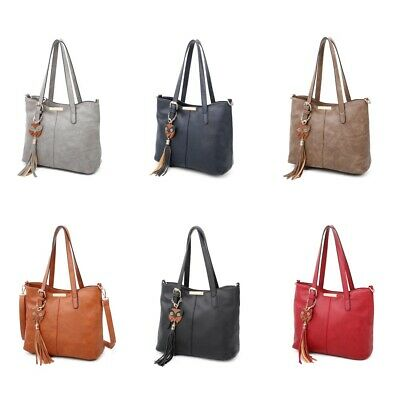 Ladies Designer Soft PU Leather Hobo Handbag Satchel Shoulder Tote Bag