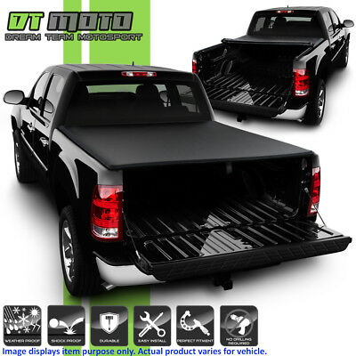 Roll Up Tonneau Cover For 2004-2006 Chevy Silverado GMC Sierra Crew Cab 5.8' Bed