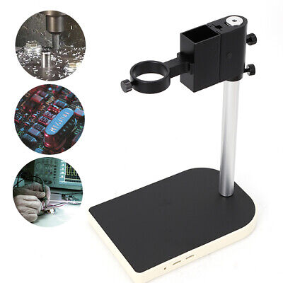 42 Mm Large Lab Industry Stereo Microscope Camera Table Stand Dual Ring Holder