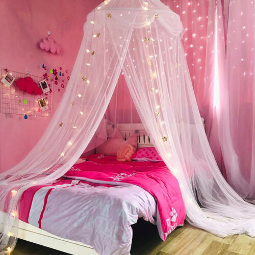 Princess Star Bed Canopy Lace Mosquito Net for Girls Boys Ad