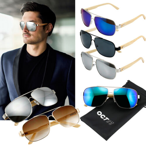 Aviator Sunglasses Vintage Mirror Lens New Mens Women Fashion Frame Retro Silver