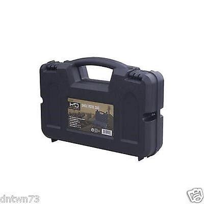 Pistol Case Hard Plastic Handgun High Desert Lock Box Safe Weapon Carry Storage