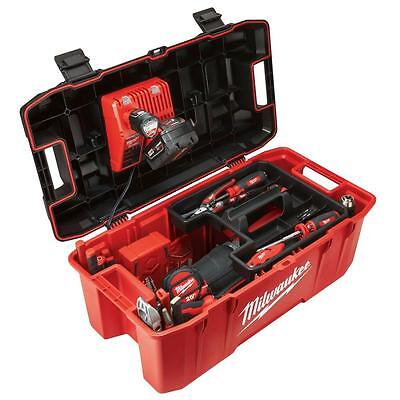Milwaukee 26 in. Jobsite Portable Work Tool Box Power Tools Storage Lockable Lid