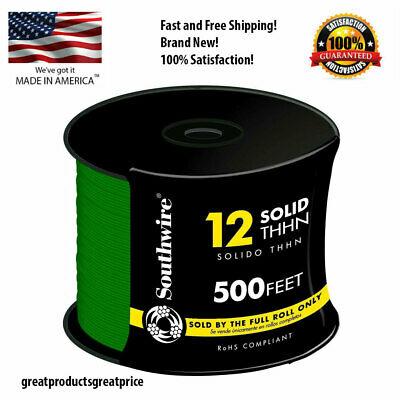 Southwire 500 Ft 12 Gauge Green Solid Thhn Cu Single Conductor Electrical Wire