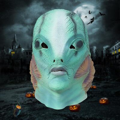 2018 The Shape of Water Halloween Mask Horror Cosplay Merman Fish Latex Mask  - Halloween Mask 07