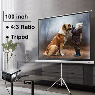 Adjustable 100 43 Hd Projector Projection Screen Home Conference Stand Tripod