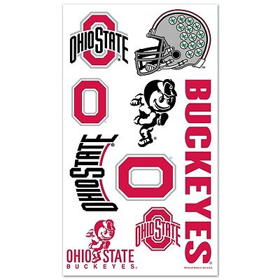 Ohio State Buckeyes Temporary Tattoos 10 Pack [NEW] NCAA Decal Stickers CDG ()