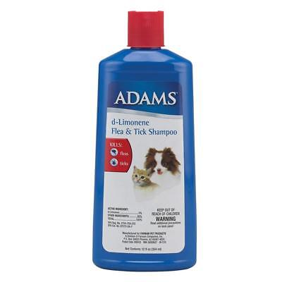 Adams d-Limonene Pet Flea and Tick Shampoo Kills Pests For Dogs & Cats 12oz