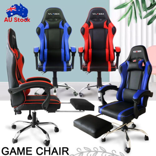 game computer - Gaming Chair Office Executive Computer Game Chairs Seating Racing Recliner AU