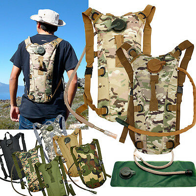 2L Hydration System Survival Water Bag Pouch Backpack Bladder Climbing -