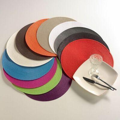 Set of 4 Heat-resistant Placemats PP Table Mats Non-Slip Place Mats Table Decor