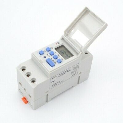 Digital Lcd Din Programmable Weekly Rail Timer Ac 110v 16a Time Relay Switch
