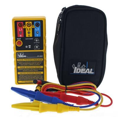 Ideal Electrical 61-521 3 Phase Motor Rotation Tester600vcarry Case