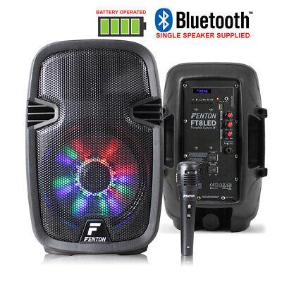 "B-Stock Portable Music System DJ Speaker 8"" 300w Bluetooth, Party Lights &"