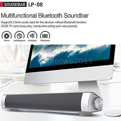 3D Surround Sound Bar System Subwoofer Wireless Bluetooth Soundbar Home Speaker