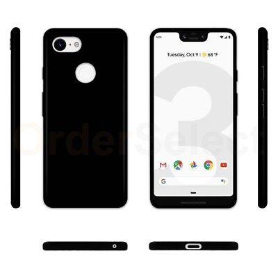 - Ultra Slim Protector Plastic Phone Case BLACK for Google Pixel 3 XL
